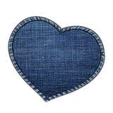 Marco del corazón hecho por textura de los vaqueros Imagen de archivo libre de regalías