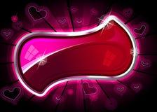 Marco del cromo del corazón Foto de archivo