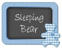Marco del cuarto de niños del oso el dormir Fotografía de archivo libre de regalías
