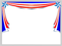 Marco del día de fiesta de la bandera americana Fotos de archivo libres de regalías