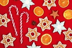 Marco del día de fiesta de la Navidad y del Año Nuevo Fotos de archivo