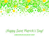 Marco del día de fiesta del día del St Patricks Fotografía de archivo