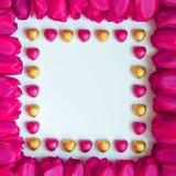 Marco del día de las tarjetas del día de San Valentín o de madres - fotos comunes Fotos de archivo