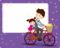 Marco del día de padre stock de ilustración