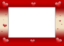 Marco del día de tarjeta del día de San Valentín Fotografía de archivo