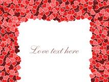 Marco del día de tarjeta del día de San Valentín Foto de archivo libre de regalías