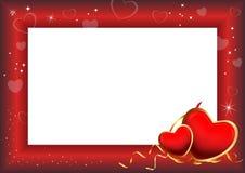 Marco del día de tarjeta del día de San Valentín Imagen de archivo