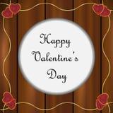 Marco del día de tarjetas del día de San Valentín ilustración del vector