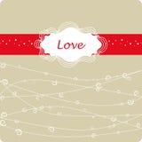 Marco del día del `s de la tarjeta del día de San Valentín Fotos de archivo libres de regalías