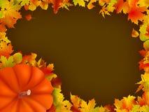 Marco del día de fiesta de acción de gracias. EPS 8 Fotografía de archivo libre de regalías