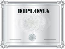 Marco del diploma Fotos de archivo libres de regalías