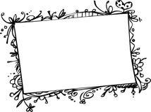 Marco del Doodle Foto de archivo