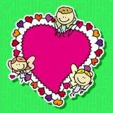 Marco del Doodle Imagen de archivo libre de regalías