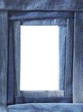 Marco del dril de algodón foto de archivo libre de regalías