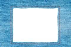 Marco del dril de algodón con vaqueros ligeros Imagen de archivo libre de regalías