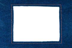 Marco del dril de algodón con vaqueros oscuros Fotografía de archivo libre de regalías