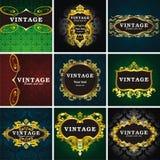 marco del estilo de 9 vendimias Fotografía de archivo