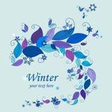 Marco del fondo de la naturaleza del invierno stock de ilustración