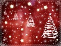 Marco del fondo de la Navidad Foto de archivo