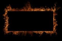 Marco del fuego Fotografía de archivo