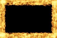 Marco del fuego Fotos de archivo