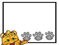 Marco del gato de tigre Foto de archivo
