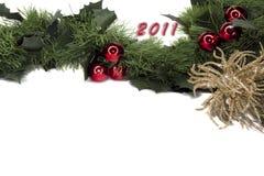 marco del gerland del Año Nuevo 2011 Foto de archivo libre de regalías