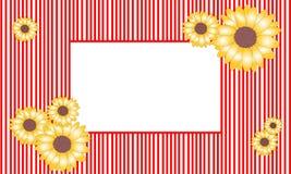 Marco del girasol del ejemplo del vector Foto de archivo libre de regalías