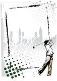Marco del golf stock de ilustración