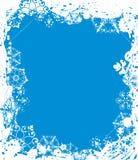 Marco del grunge del copo de nieve, elementos para el diseño, vector Fotos de archivo libres de regalías
