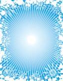 Marco del grunge del copo de nieve, elementos para el diseño, vector Imagenes de archivo