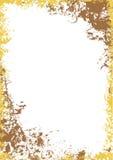Marco del grunge del oro Imagen de archivo libre de regalías