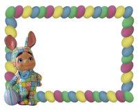 Marco del huevo del conejito de pascua Imagen de archivo libre de regalías