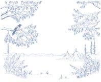 Marco del invierno Imagenes de archivo