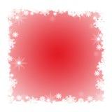 Marco del invierno con los copos de nieve Foto de archivo libre de regalías