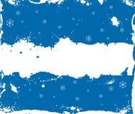 Marco del invierno de Grunge con los copos de nieve Foto de archivo