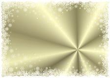 Marco del invierno del oro Imagenes de archivo