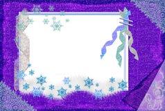 Marco del invierno para una foto. Fotografía de archivo libre de regalías
