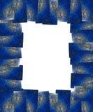 Marco del lapislázuli de Lapis aislado Fotografía de archivo