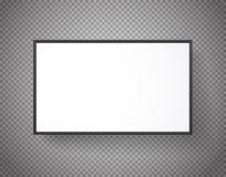 Marco del Libro Blanco en fondo transparente Foto de archivo