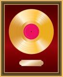 Marco del LP del oro Fotos de archivo libres de regalías