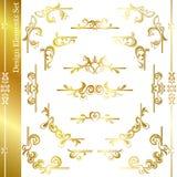 Marco del lujo del oro imágenes de archivo libres de regalías