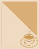 Marco del menú a la taza de café con crema Fotos de archivo libres de regalías