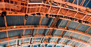 Marco del metal con las luces Imagen de archivo