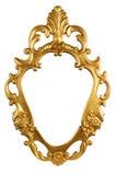Marco del metal de la vendimia del oro Fotografía de archivo libre de regalías