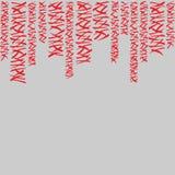 Marco del modelo con las rayas rojas Imágenes de archivo libres de regalías