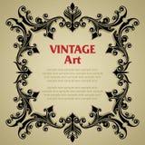 Marco de la plantilla del vintage fotos de archivo libres de regalías