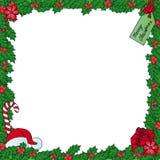 Marco del muérdago de Navidad Imágenes de archivo libres de regalías