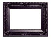 Marco del negro de cuadro con un modelo decorativo Imagenes de archivo