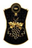 marco del Negro-oro para el vino del embalaje ilustración del vector